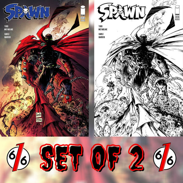 🔥💀⛓ SPAWN #314 SET OF 2 Cvr B Capullo McFarlane & B&W Sketch 1:5 Variant NM