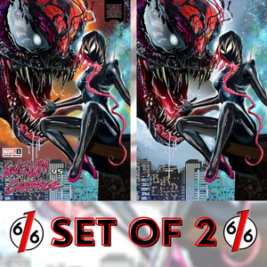 KING IN BLACK GWENOM VS CARNAGE #1 SET OF 2 GREG HORN Variants