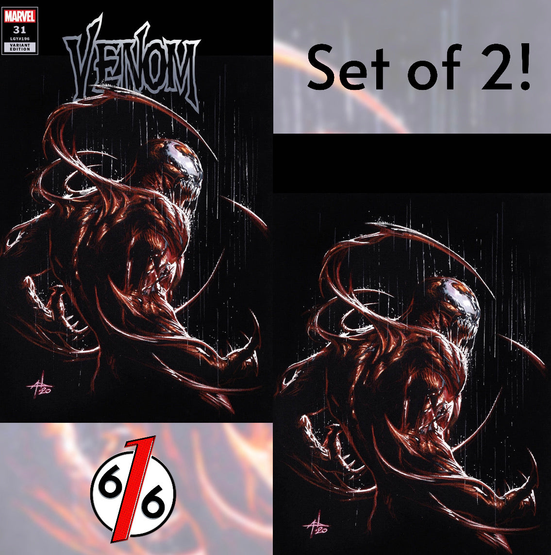🚨🕸 VENOM #31 SET OF 2 GABRIELE DELL'OTTO Carnage Variants King In Black NM
