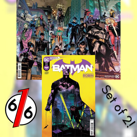 🚨🦇 BATMAN #106 SET OF 2 Cvr A & B Wraparound Jimenez 🔑 1st App MIRACLE MOLLY