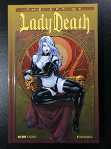 🔥☠️🖊 THE ART OF LADY DEATH VOLUME 1 Ortiz Cover Signed Pulido LTD 350 HC