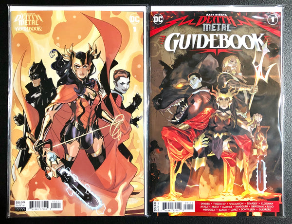 DARK NIGHTS DEATH METAL GUIDEBOOK #1 Set Of 2 Dodson 1:25 & Putri Cover A