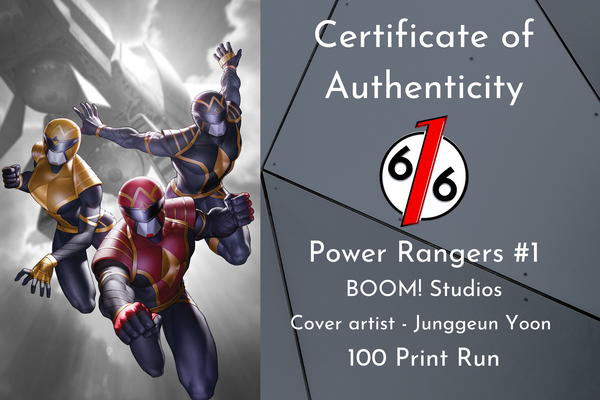 POWER RANGERS #1 JUNGGEUN YOON Exclusive Variant SET OF 3 Ltd 100 COA