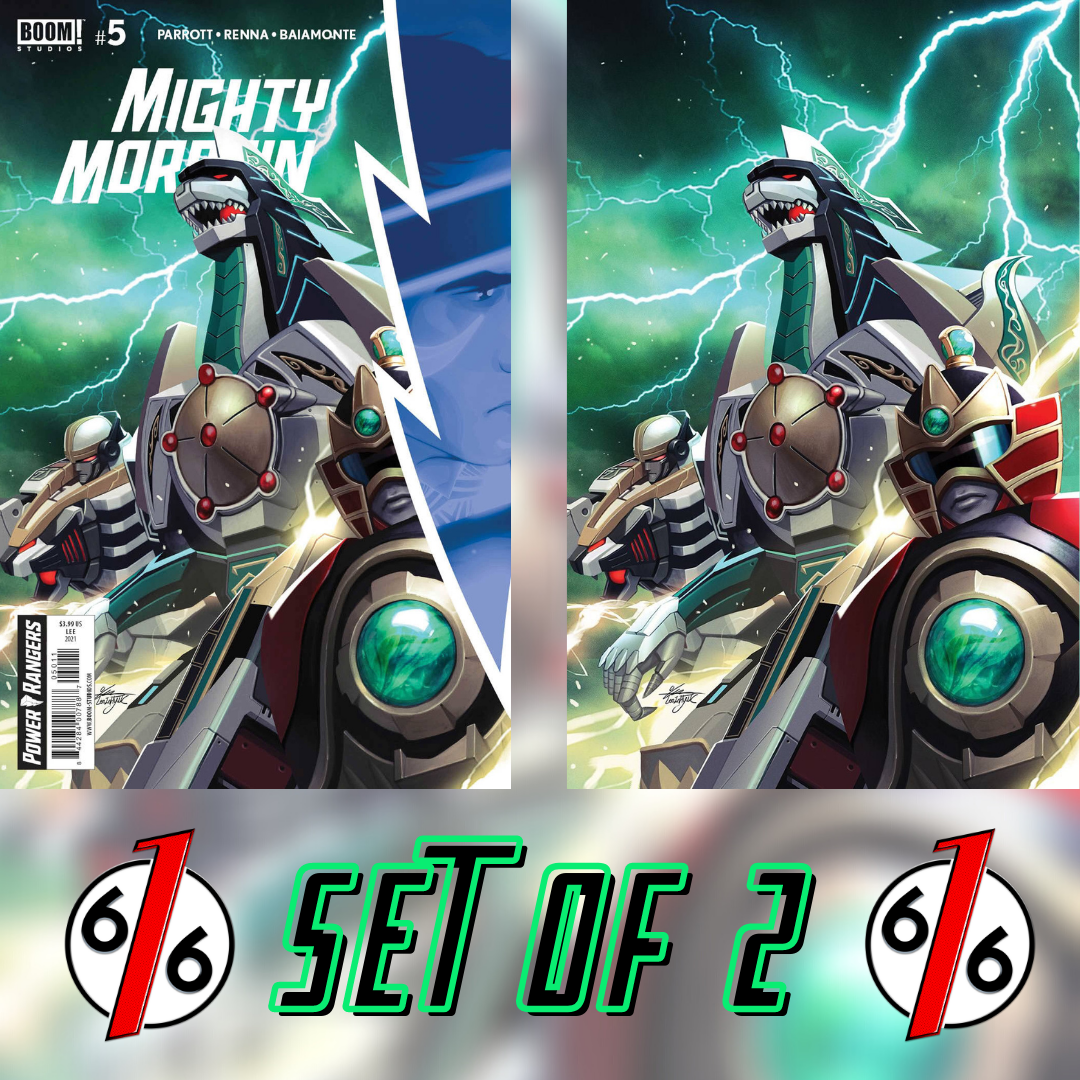 MIGHTY MORPHIN #5 SET OF 2 Main Cover & Inhyuk Lee 1:10 Virgin