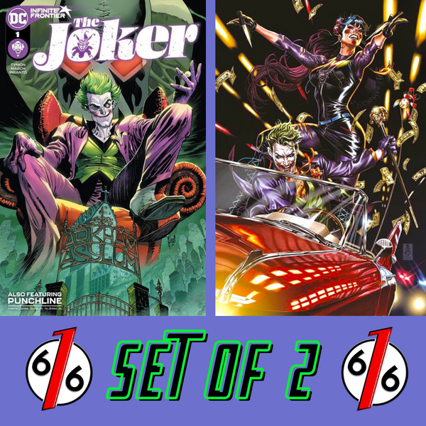 🚨🤡🔥 JOKER #1 SET OF 2 Guillem March Cover A & Mark Brooks Team Variant NM