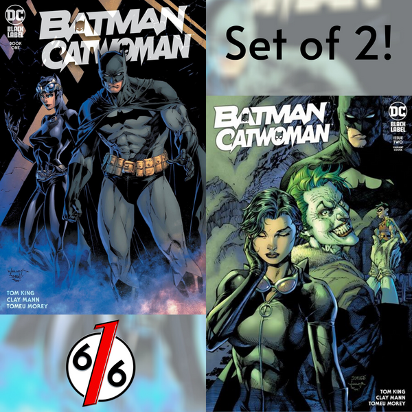 🚨🦇🔥 BATMAN CATWOMAN #1 & #2 JIM LEE WILLIAMS SET OF 2 Exclusive & #2 Cover B