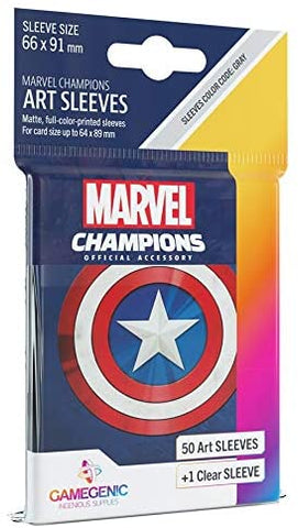 Marvel Champions Art Sleeves: Captain America