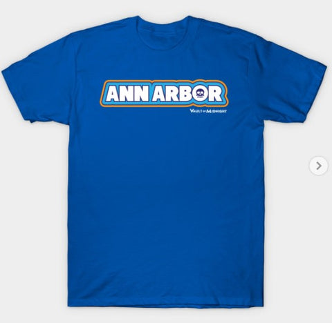 T-Shirt: Vault of Midnight - Ann Arbor - Royal Blue