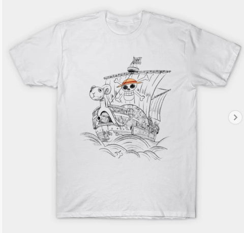 T-Shirt: Going Merry Go - One Piece - White