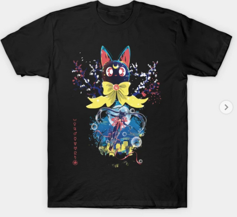 T-Shirt: Sailor Moon - Transformation - Black