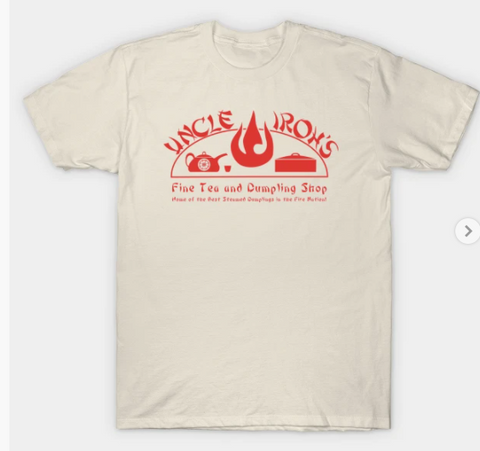 T-Shirt: Avatar - Uncle Iroh's Fine Tea Shop - Creme
