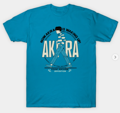 T-Shirt: Akira - Akira is Waking Up - Teal