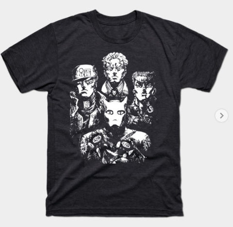 T-Shirt: RIVALRY RAPSODY - Jojo's Bizarre Adventure - Heather Black