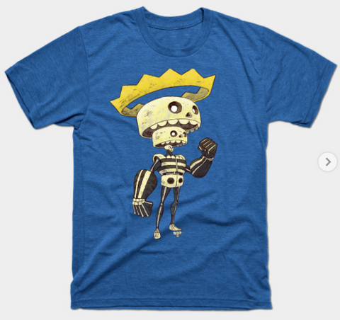 T-Shirt: King Skeleton - Royal Heather