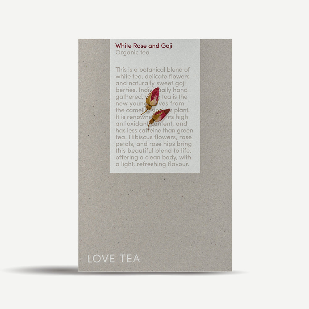 White Rose Goji Pyramid Tea Bags - You Brewtea