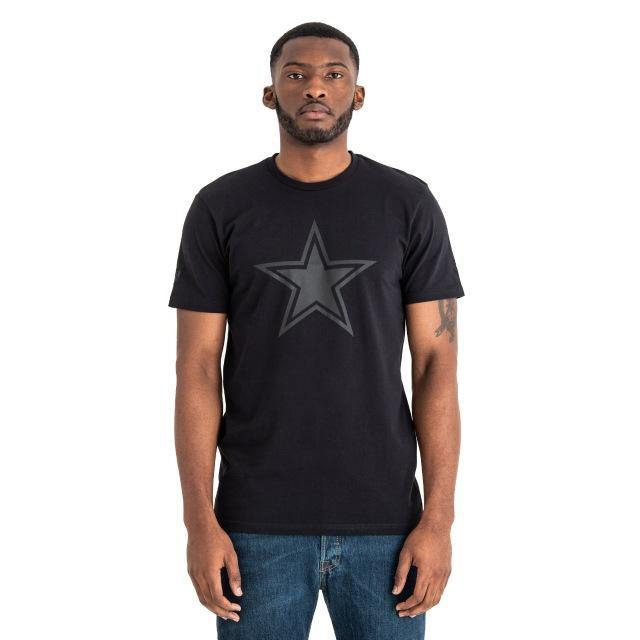 Dallas Cowboys Tonal Black Logo New Era póló