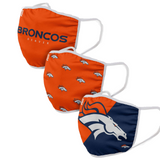 Denver Broncos 3db-os Match Day Face Cover maszk