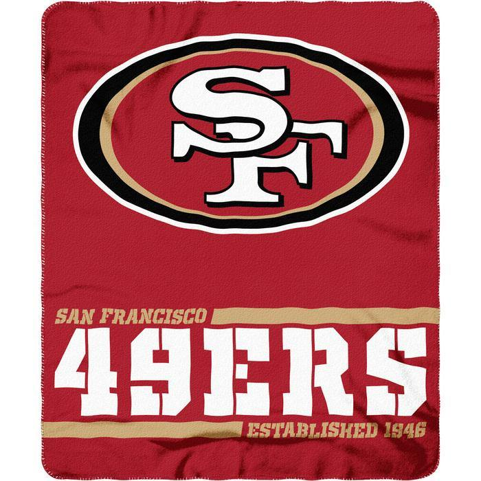San Francisco 49ers Split Wide Fleece takaró