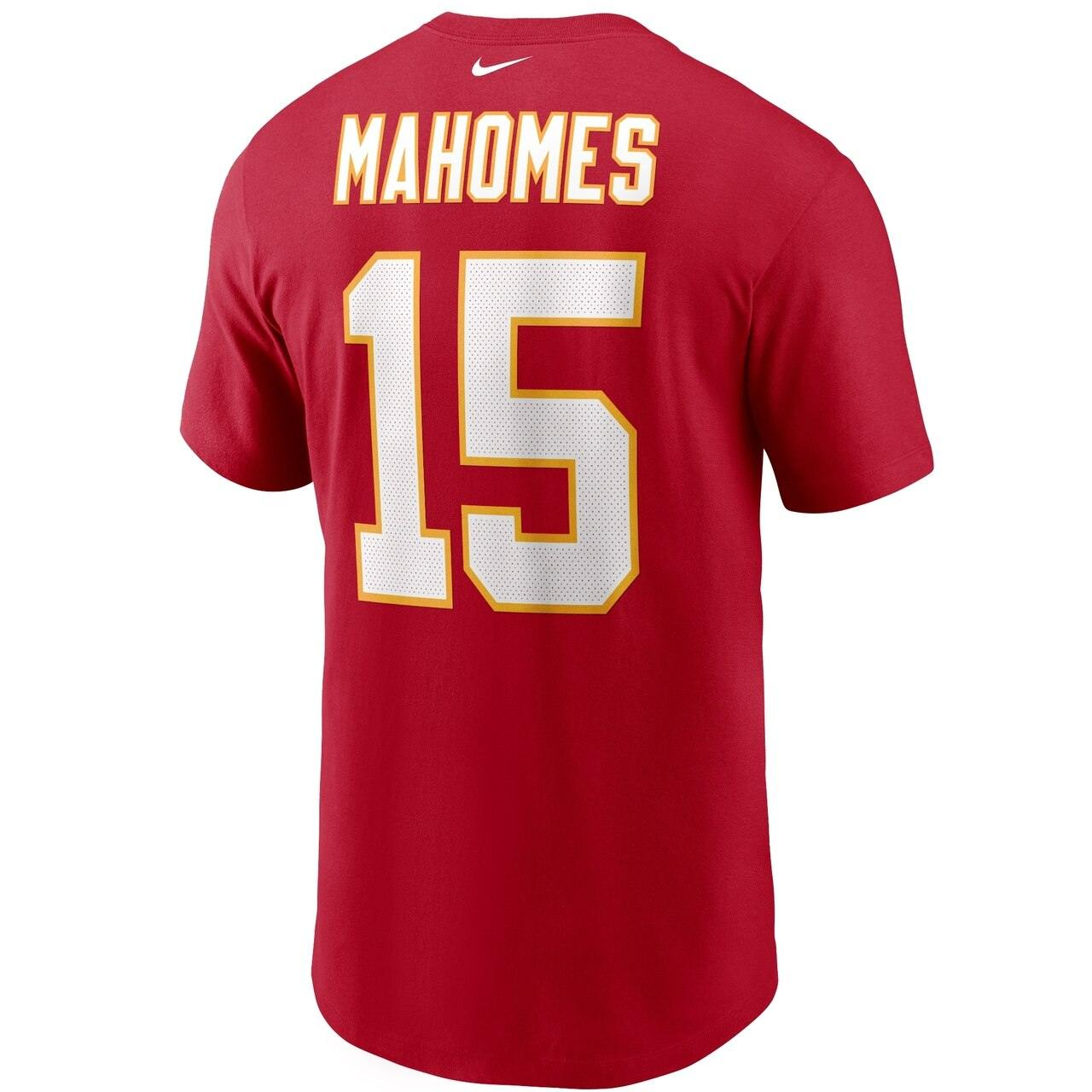 Nike Kansas City Chiefs Patrick Mahomes Name and Number póló