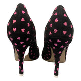 "The Attico ""Hot Fixed Heart Pump"" Heels Black Suede - Size 37.5"