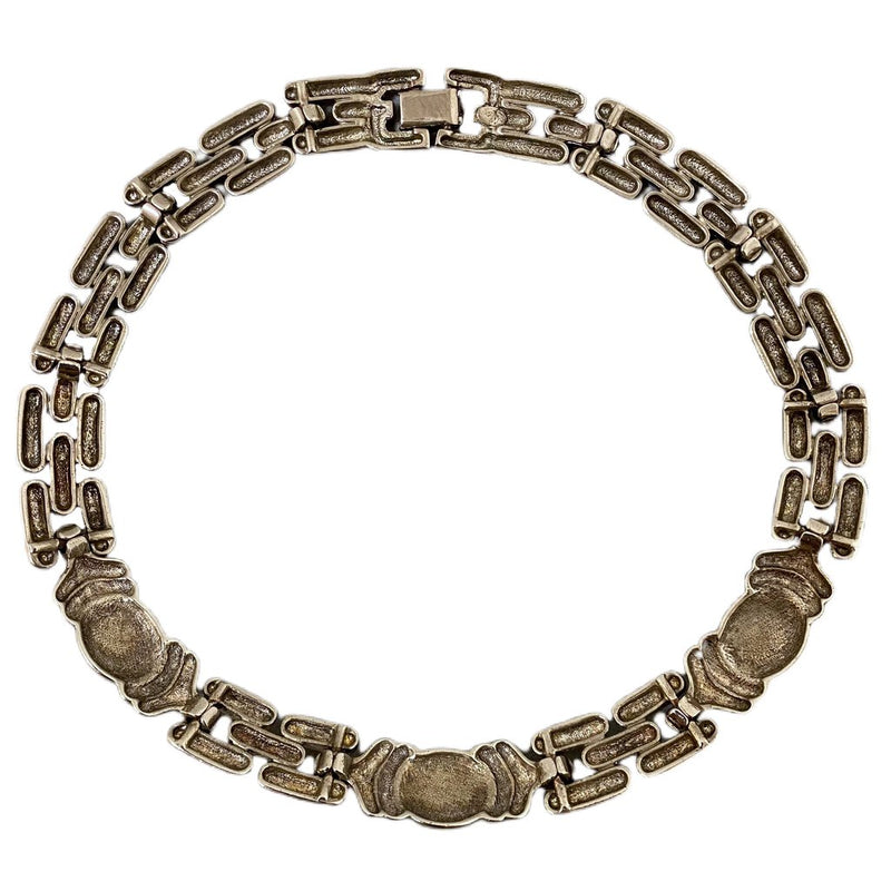 Givenchy Vintage Silver Tone Collar Necklace