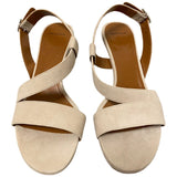 Aquatalia Suede Leather Sandals Heels - Size 8.5