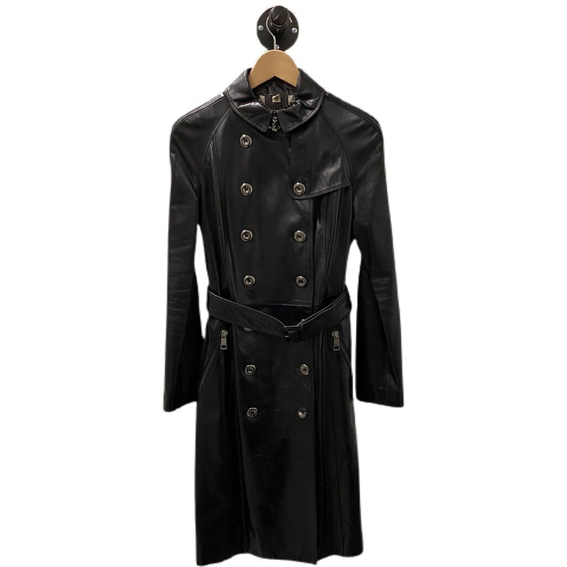 Burberry Leather Trench Coat - Size US 6 / IT 40