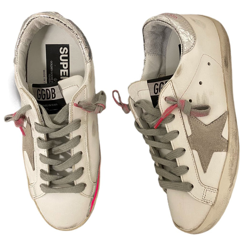 "Golden Goose ""Super Star"" Sneakers - Size 35"