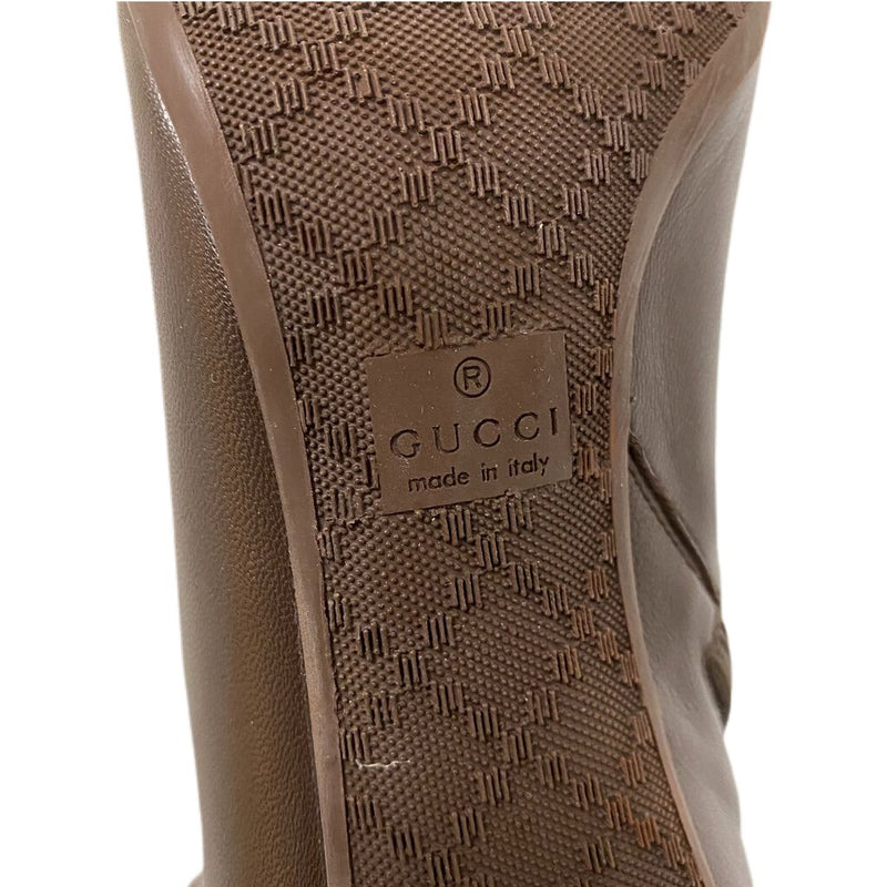 Gucci Knee High Leather Boots - Size 40