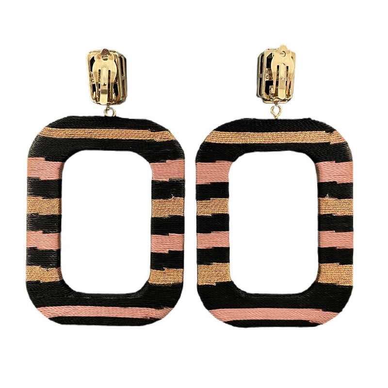 "Mary Jane Claverol ""Oprah Stripe"" Earrings"