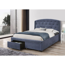 Load image into Gallery viewer, Stella Bedframe Queen Size Navy Blue