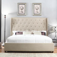 Load image into Gallery viewer, Paris Bedframe King Size Beige color