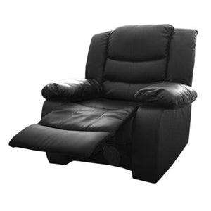 Recliner, Bonded Leather, Black, 98 x 98 x 98cm
