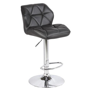 Bar Stool, PU Leather,  Black, 50 x 43 x 97cm (Set of 2)
