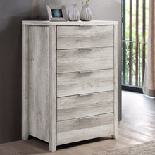 Load image into Gallery viewer, Tallboy, White Ash, 5 Drawer
