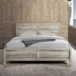 Bed Frame, White Ash, Queen