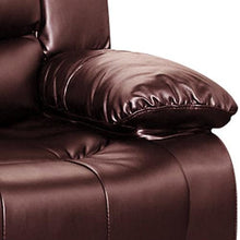 Load image into Gallery viewer, Recliner, Bonded Leather, Brown, 98 x 98 x 98cm