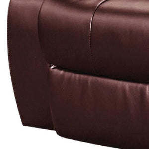 Recliner, Bonded Leather, Brown, 98 x 98 x 98cm