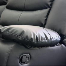 Load image into Gallery viewer, Recliner, Bonded Leather, Black, 98 x 98 x 98cm