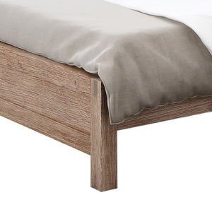 Bed Frame, Classic Oak, Queen