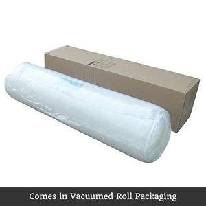 Roll Mattress, White and Brown, Double
