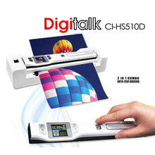 Load image into Gallery viewer, Digitalk 2-in-1 Combo Portable A4 1200DPI Photo & Document Scanner (CI-HS510D)