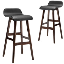 Load image into Gallery viewer, Charlie Bar Stools, Leather, Black (Set of 2)