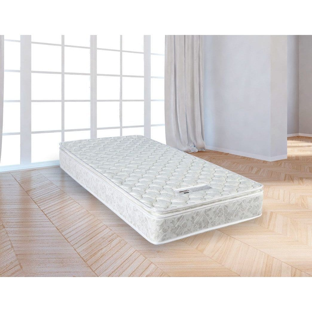 PALERMO Single Luxury Latex Pillow Top Topper Spring Mattress
