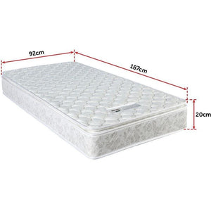 Latex Pillow Top Pocket Spring Matress, Single