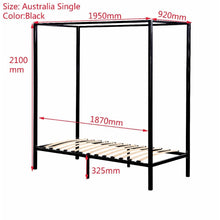 Load image into Gallery viewer, 4 Poster Bed Frame, Single