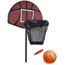 Load image into Gallery viewer, Trampoline Basketball Hoop Ring Backboard Ball Set