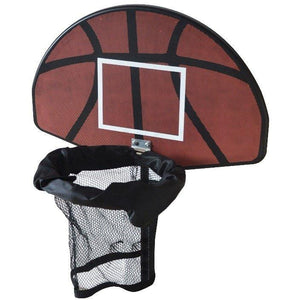 Trampoline Basketball Hoop Ring Backboard Ball Set