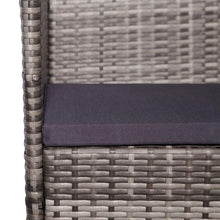 Load image into Gallery viewer, Outdoor Dining Set, 7 Piece, with Cushions, Poly Rattan, Grey