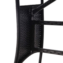 Load image into Gallery viewer, Garden Table, Poly Rattan, Black, 140x80x74cm